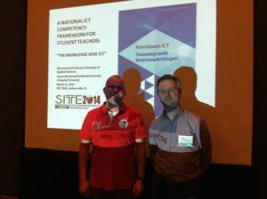 Maurice Schols en mij na afloop van de sessie over de Kennisbasis ICT